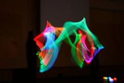 Glow Juggling Entertainers Pasing Clubs
