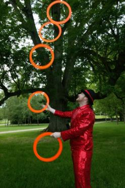 Stage shows, specialising in Ball and Ring juggling routines